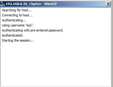 connexion winscp to checkpoint fw 1